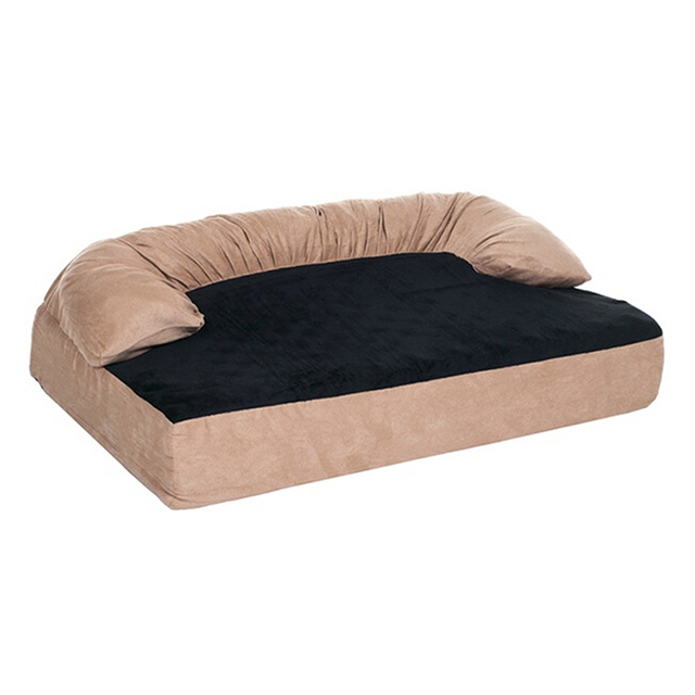 Wholesale Factory New Design Luxury Bolster Memory Foam Beds for Dogs Memory Foam Dog Bed