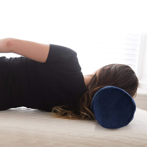 Hot Selling Healthy Long Round Neck Support Travel Neck Roll Pillow