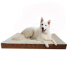 Durable Waterproof Suede Egg Crate Memory Foam Orthopedic Pet Bed