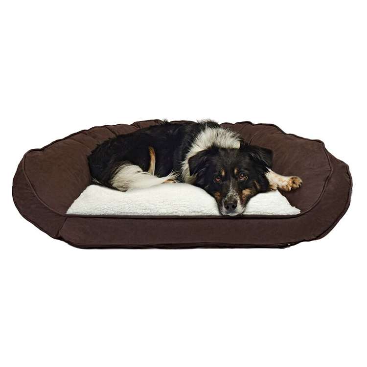 Princess Large Big Modern Pet Luxury Portable Raised Cover Velvet Dog Bed